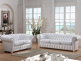 canapé chesterfield blanc
