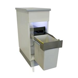 Des poubelles encastrables pour vos meubles de cuisine - Poubelle sous evier coulissante ...