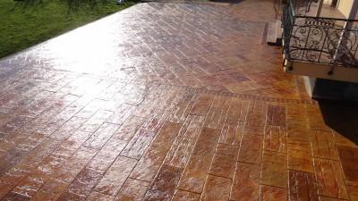 beton imprime terrasse