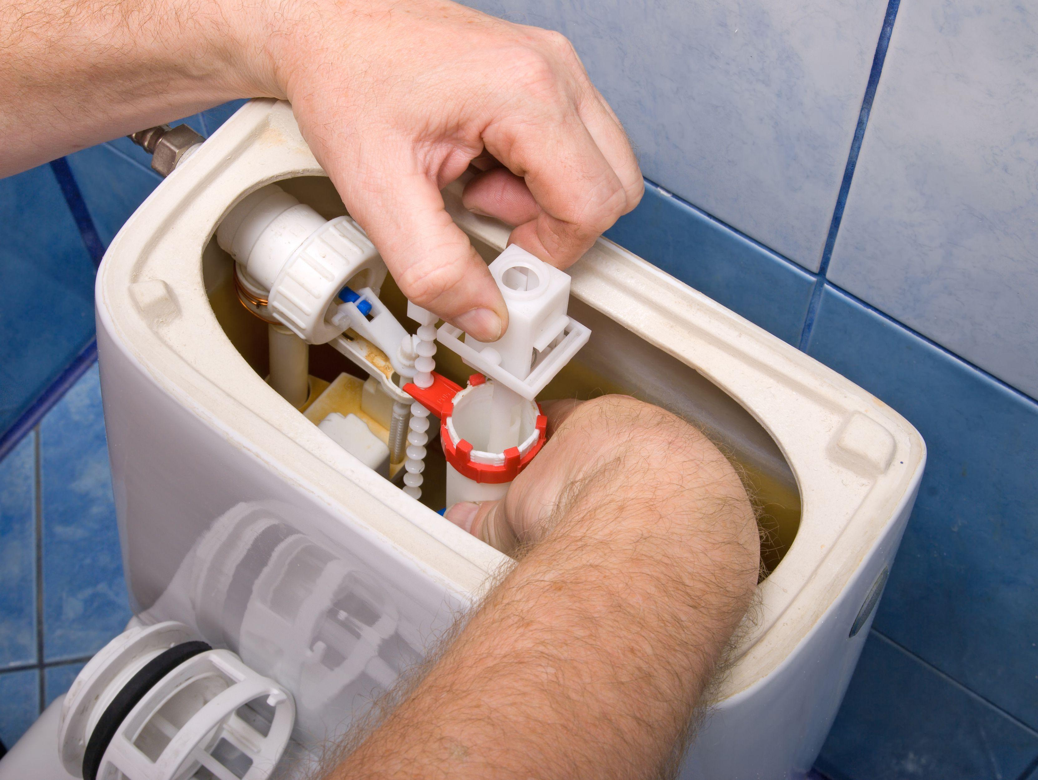 canalisation de chasse d'eau