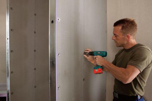 installation de la cabine de douche