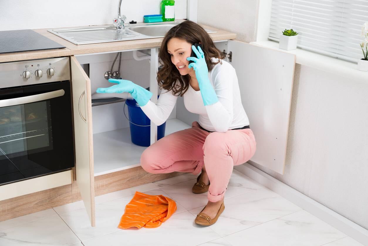 fuite d'eau dans la cuisine