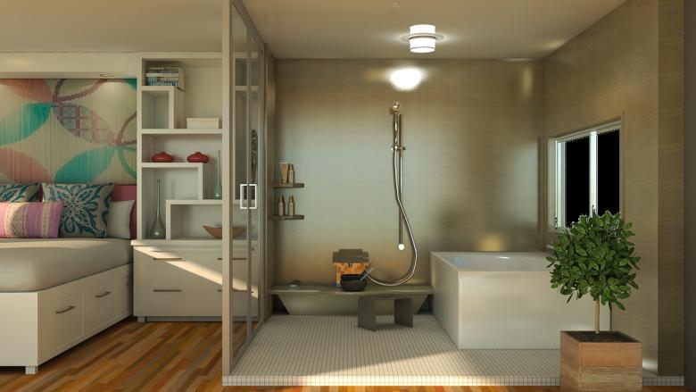 étagère salle de bain