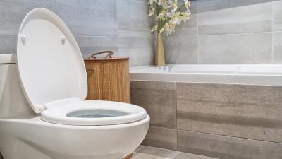 installation des toilettes