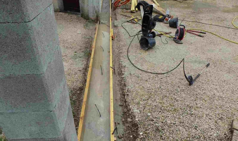 Réaliser un seuil de portail en béton – Tuto bricolage